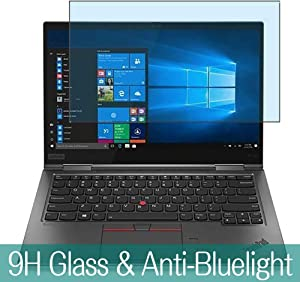 """Synvy Anti Blue Light Tempered Glass Screen Protector for Lenovo ThinkPad X1 Yoga (4th Gen 2019) 14"""" Visible Area 9H Protective Screen Film Protectors"""