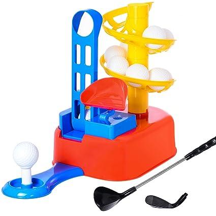 Amazon.com: WishaLife - Juego de golf para niños, palos de ...