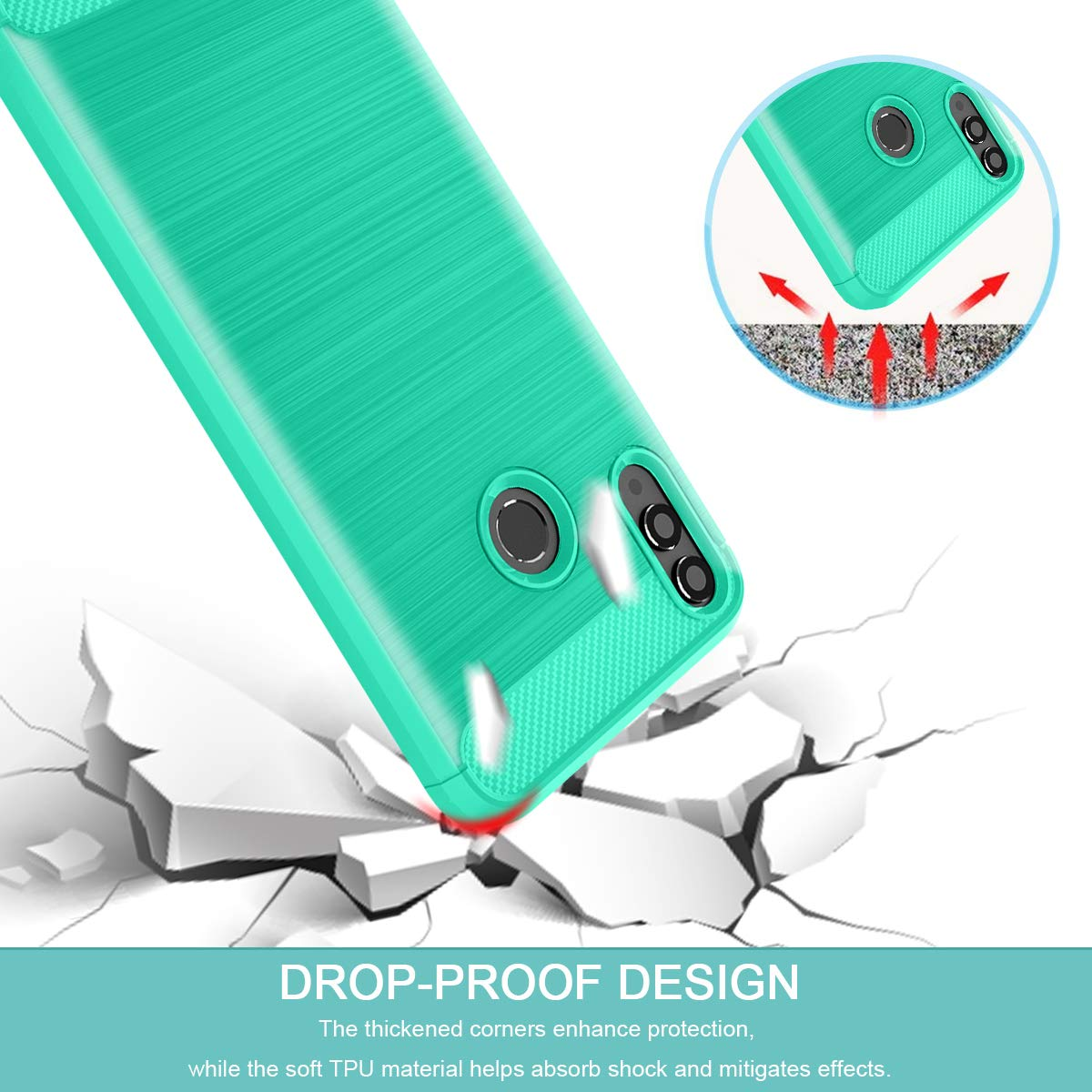 Amazon.com: Honor 8X Case,Honor 8S Case,CaseRoo Carbon Fiber Soft TPU Phone Case Brushed Texture Anti-Fingerprint Flexible Full-Body Protective Cover Shell ...