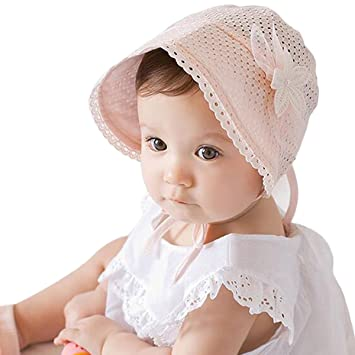 0ee045482a5e Baby Bonnet, Fascigirl Baby Sun Cap Breathable Lace Flowers Bowknot Sun Hat,  Sports Apparel - Amazon Canada
