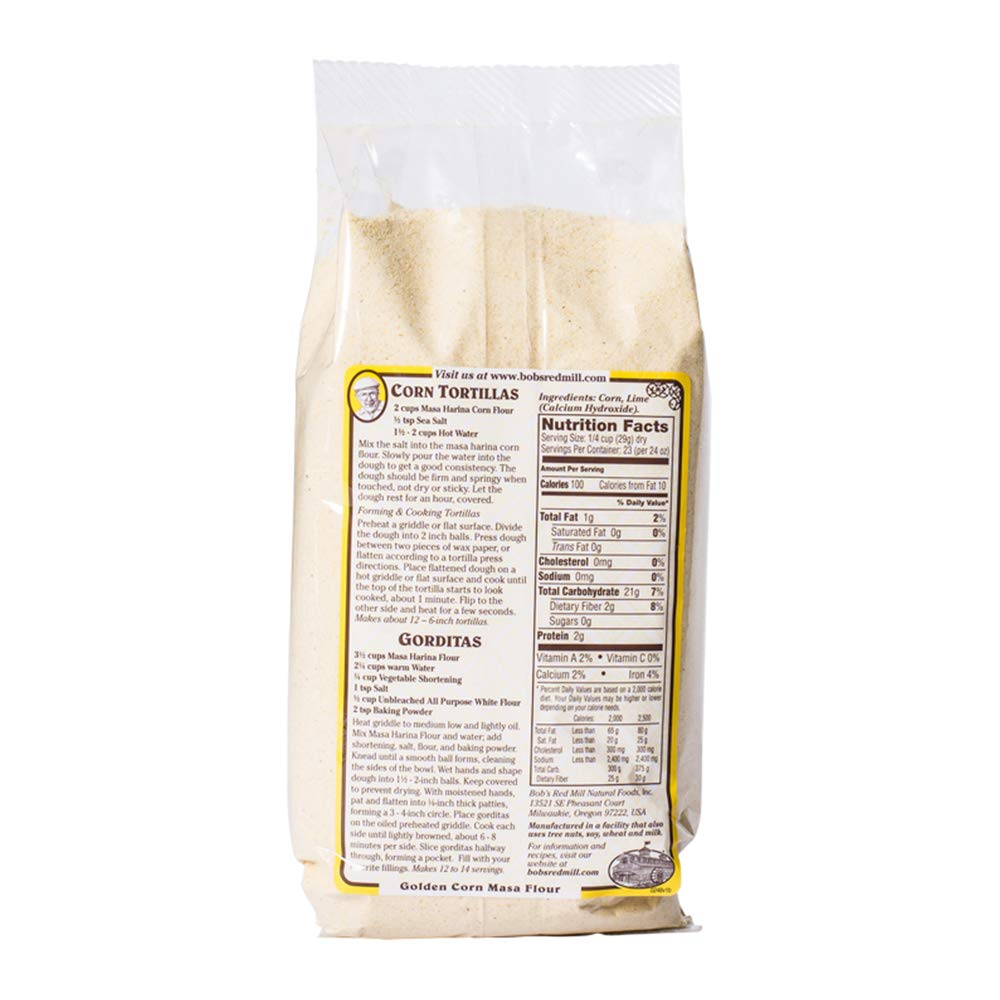 Bobs Red Mill Golden Masa Corn Flour, 1.63 Pound by Bob's Red Mill (Image #4)