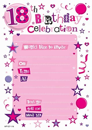 Pink 18th Birthday Party Invitations Envelopes