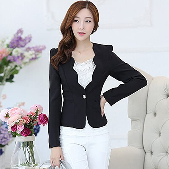 ac4897912e9a Value Buy Go Go Go Women's Fashion Long Sleeve Korean Style Slim Sexy Suit  Blazer Jacket: Amazon.co.uk: Clothing