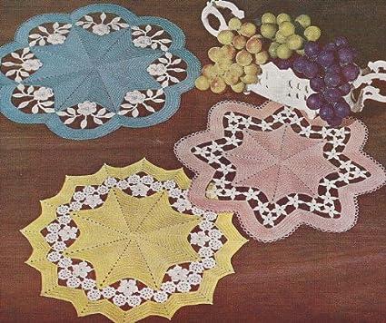 Amazon Vintage Crochet Pattern To Make Flower Cutwork