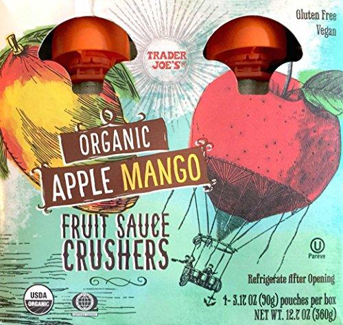 Toddler Crusher (Trader Joe's Organic Apple Mango Fruit Sauce Crushers (1 Box with 4)