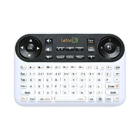 Lefant Mini inalámbrico ratón y teclado F6 con mando a distancia por infrarrojos perfecto para PC