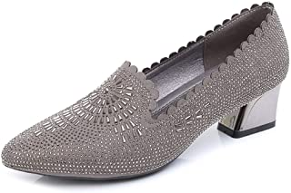 LANSEL Chaussures Simples Printemps, été et Automne avec des Chaussures Strass Bouche Bouche Peu Profondes travaillent Chaussures Professionnelles