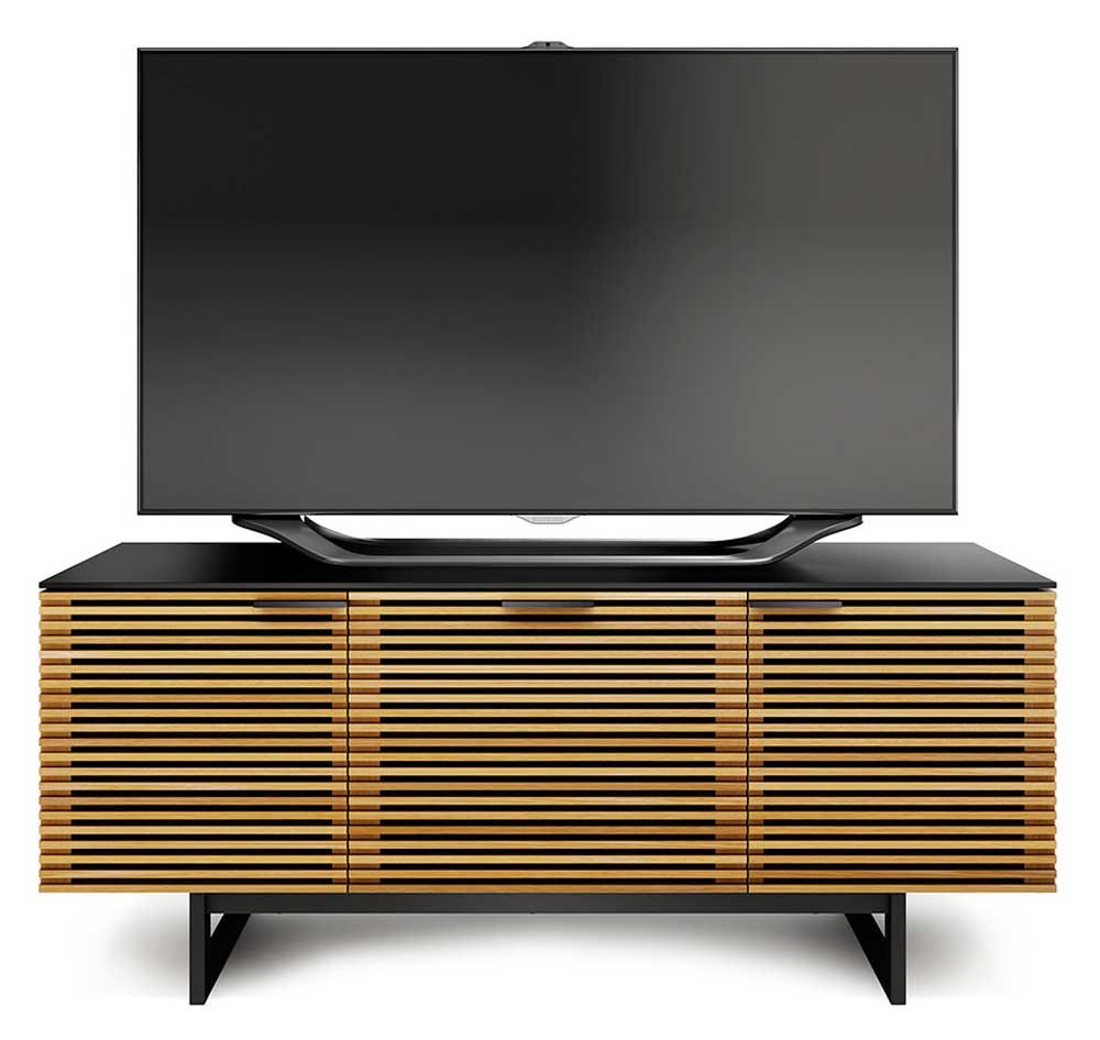 Amazing White Oak Tv Unit Part - 14: Amazon.com: BDI Corridor 8177 Triple Wide TV Cabinet (White Oak):  Electronics