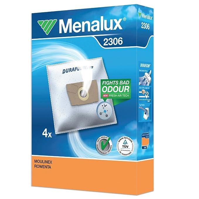 Menalux 2306 Silence Force Bolsas para aspiradoras Rowenta, Blanco