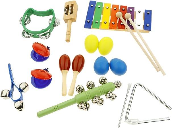 Juego de 17 instrumentos musicales para niños pequeños de ...
