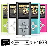 Goldenseller 16GB Mp3 Player Mp4 Player for a Micro SD Card Slot, Media Player, Music Player, Portable Videos Player,Voice Recording Player, With a support of MP3, JPEG, TXT files and WMA (Black)