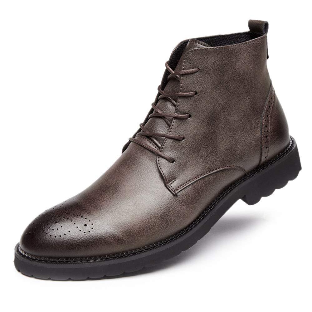 ZHRUI Mens Lace up Echtem Leder Stiefel Stiefel Stiefel
