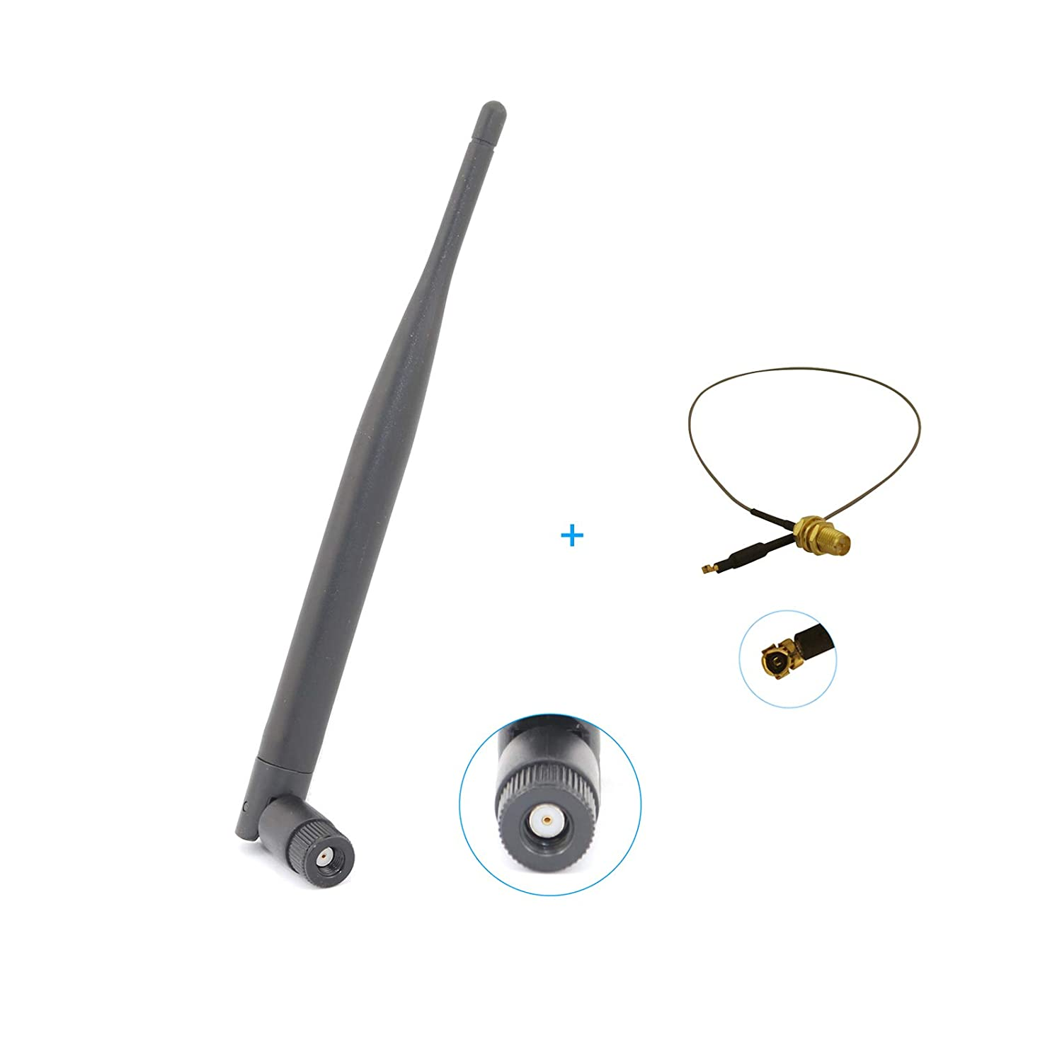 2 x 6dBi RP-SMA 2.4GHz 5GHz wireless Antenna 12in U.FL cable for E2500 EA2700
