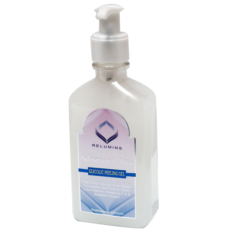 Glycolic Max Soap AHA-Mild Peel w/ Aloe- Professional Spa Formula + Relumins Whitening Glycolic Peeling Gel