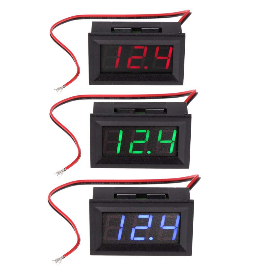 Spannungsmesser 2-adrig Besttse LED-Digital-Voltmeter 4,5 V-30 V Gleichstrom