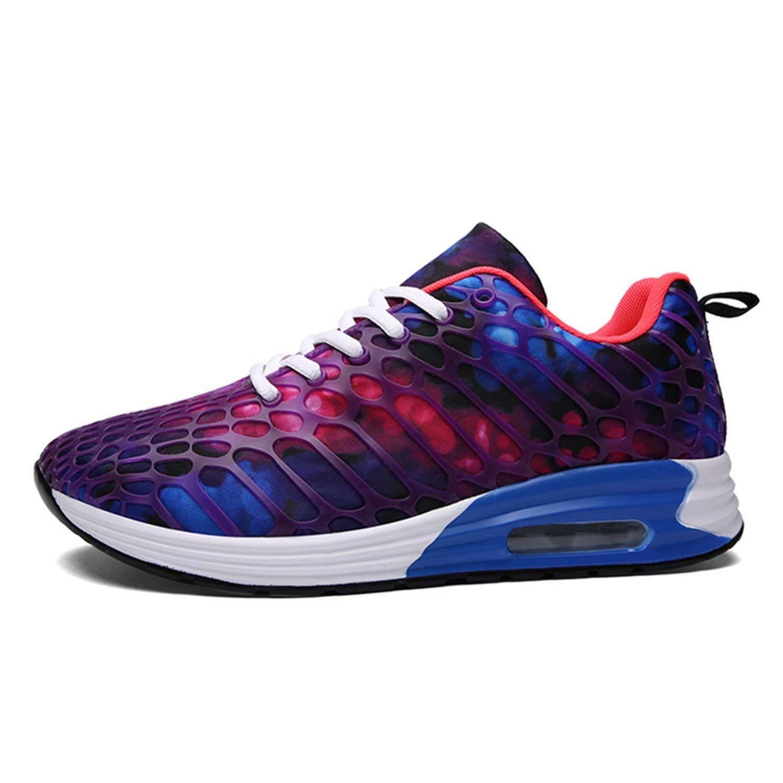 Men's Air & Women's Casual Air Men's Cushion Shoes Breathable Lightweight Tennis Walking Shoes Running Fashion Sneakers UK 7.5=Men 42 EU Purple 61df25