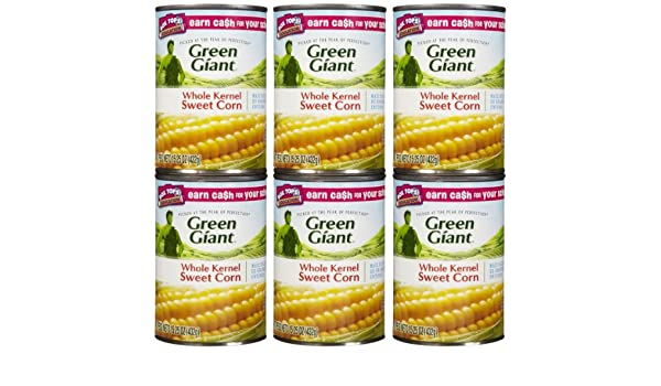 Amazon.com : Green Giant Sweet Whole Kernel Corn, 15 oz, 6 pk : Grocery & Gourmet Food