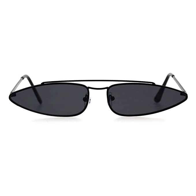 Amazon.com: Gafas de sol rectangulares estrechas con borde ...
