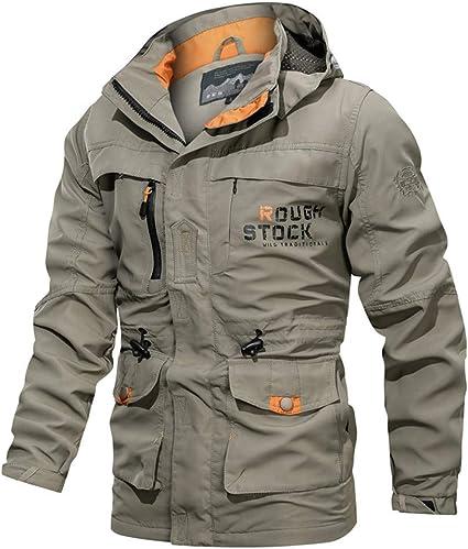 Vestes à Capuche pour Hommes,Overmal Men Longueur Moyenne Manteau, 2019 Automne et Hiver Hoodie Manches Longues Outdoors Casual Sport Imperméable