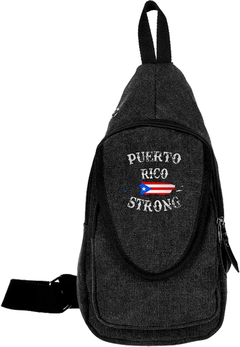 Puerto Rico Strong Daypack For Men Women Shoulder Backpack Outdoors Sport