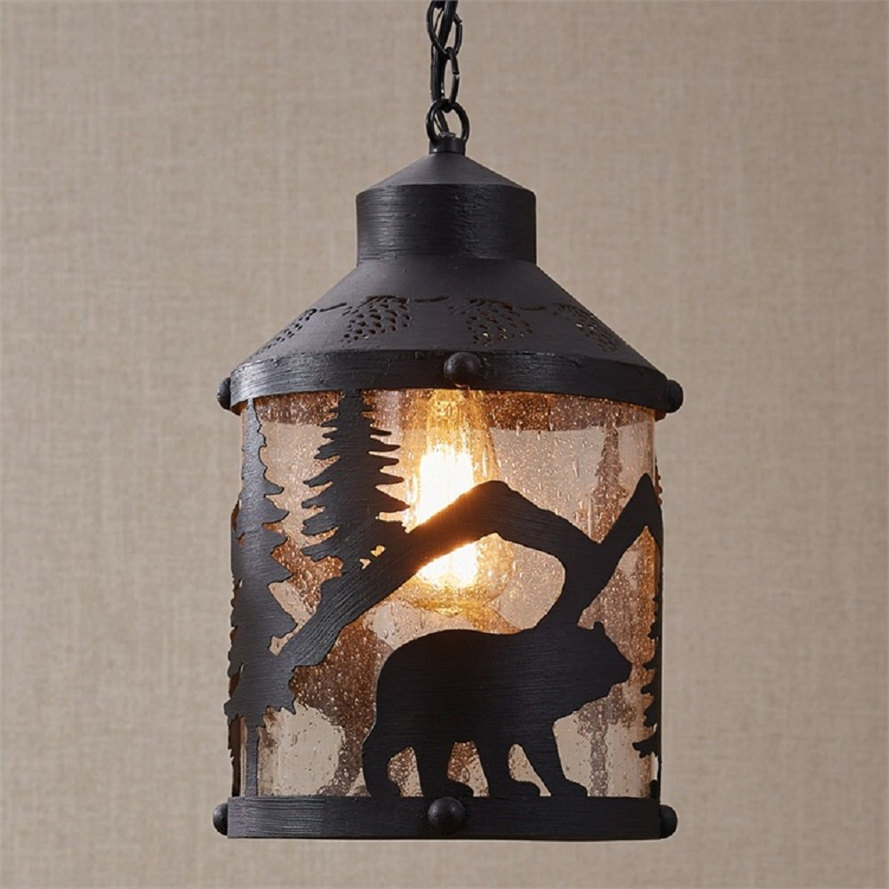 Park Designs Black Bear 8.5 Inches x 8.5 Inches x 14.5 Inches Iron Pendant Light by Park Designs (Image #1)