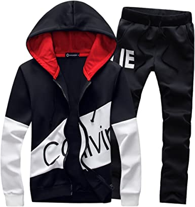 Manluo Mens Winter Tracksuits Thick Fleece Hoodies Sweatsuits Casual Workout Sports Suits Jogging Workout