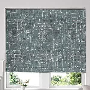 Blinds2Curtains Green 60H x 240W Cm Vera Seafoam Roman Window Blinds