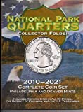 "1 P, D Colorful Folder for 2010-2021 ""America the Beautiful"" Quarters by Harris - holds 112-coin Uncirculated"
