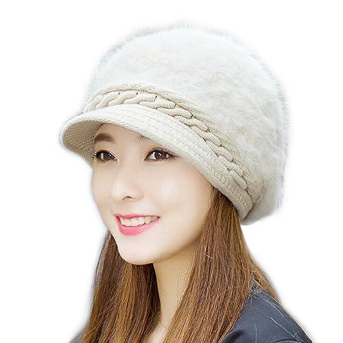Maglia Cappello Donna Inverno Caldo Ispessito Colore Solido Cappello a Maglia Berretto