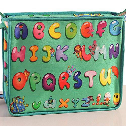 Yuga Digitally Printed Kids Satchel Bag With Zipper? Waterproof Children Schoolbags Adjustable Shoulder Straps 10 X 12 X 3 Inches Verde claro