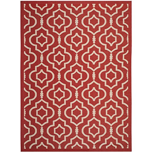 12x12 Bone (Safavieh Courtyard Collection CY6926-248 Red and Bone Indoor/ Outdoor Area Rug (9' x 12'))