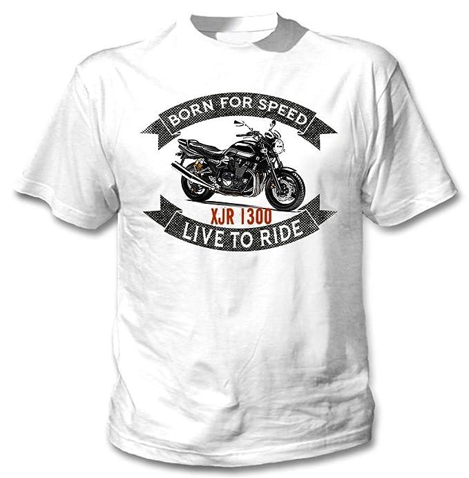 TEESANDENGINES Yamaha XJR 1300 Camiseta Blanca para Hombre de Algodon: Amazon.es: Ropa y accesorios