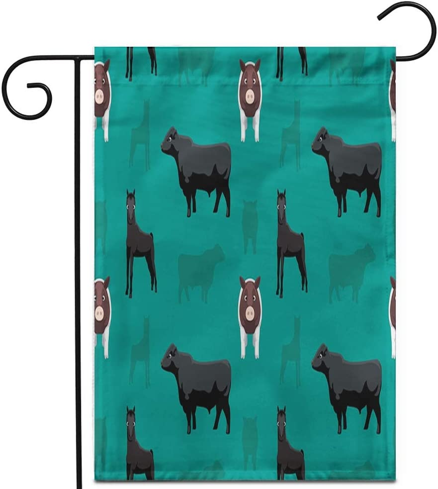 Amazon Com Awowee 28 X40 Garden Flag Agriculture Livestock Farm Animals Beef Breeds Bull Butterfat Cartoon Outdoor Home Decor Double Sided Yard Flags Banner For Patio Lawn Garden Outdoor