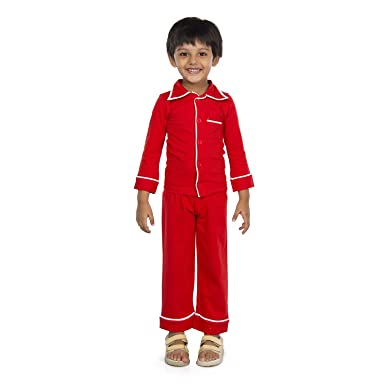5084150b04 olele® Tomato Red Boys Night Suits with Pajama | Toddler Boys Night Dress |  Nightsuits ...