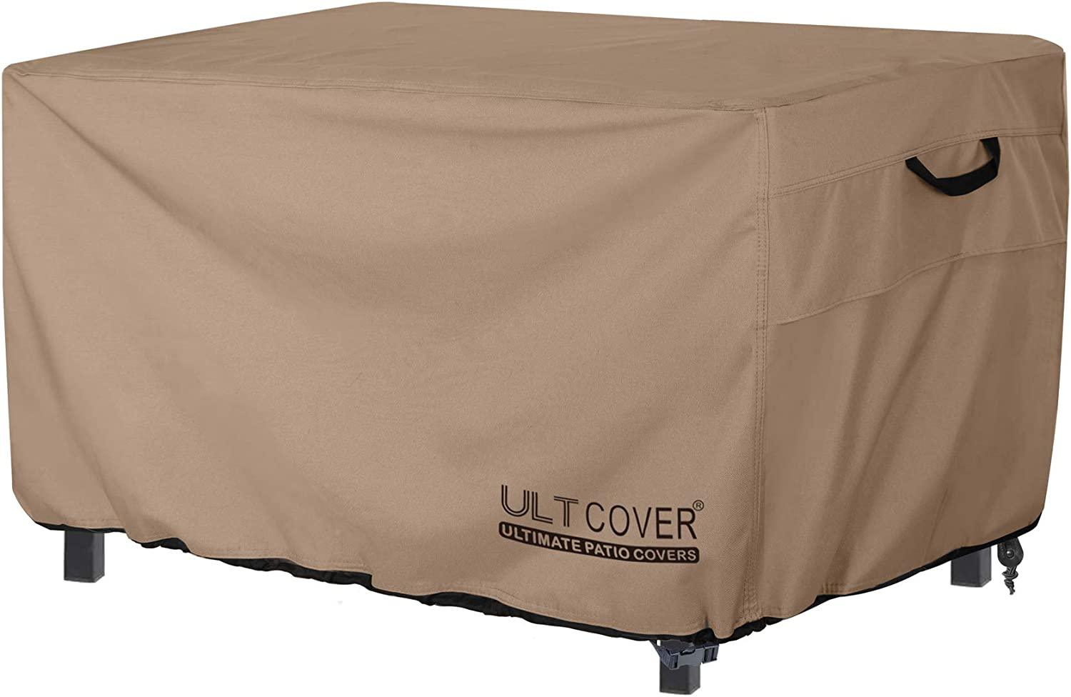 ULTCOVER Rectangular Gas Fire Pit Table Cover 44x28 inch Waterproof Heavy Duty Firepit Cover
