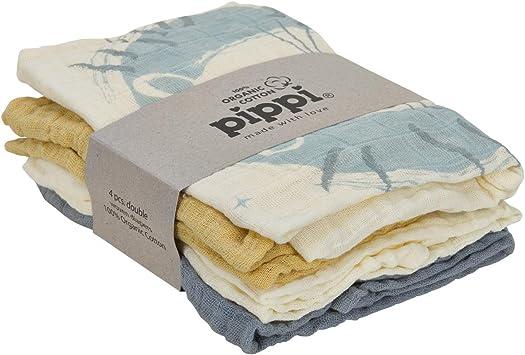 Pippi - Pañales de tela (4 unidades, algodón orgánico): Amazon.es: Salud y cuidado personal