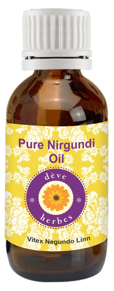 dè ve herbes Pure Nirgundi Oil (Vitex negundo linn) 100% Natural Cold Pressed Therapeutic Grade (5-1250ml) Deve Herbes DHVND100