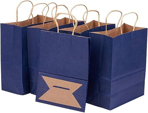 Amazon.com: BENECREAT Bolsas de papel Kraft con asas ...