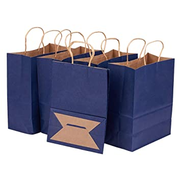 Amazon.com: Benecreat - Bolsas de papel kraft con asas ...