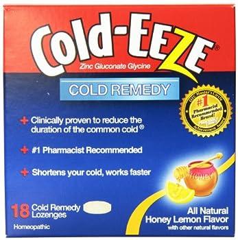 Cold-Eeze Cold Remedy Lozenges, Honey Lemon, 18 Count