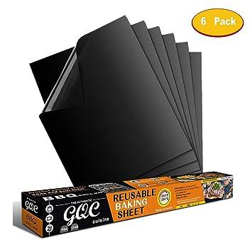 GQC Estera para Parrilla de Barbacoa, Tapete Antiadherente Reutilizable Resistente al Calor de Teflón para Barbacoa Horno Microondas Gas Carbón Leña ...