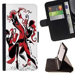 Dragon Case - FOR Sony Xperia Z3 D6603 - ?take deeper roots - Caja de la carpeta del caso en folio de cuero del tir¨®n de la cubierta protectora Shell