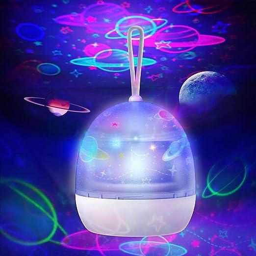 zonpor Star Light Proyector giratorio, Rotación de 360°, Proyector ...
