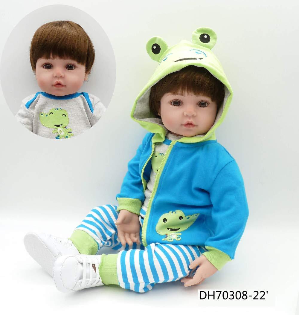 CYdoll 45 Cm Di Silicone Bambole Del Bambino Rinato Simulazione Realistic Rebirth Clothes Giocattoli Per Bambini Bambini