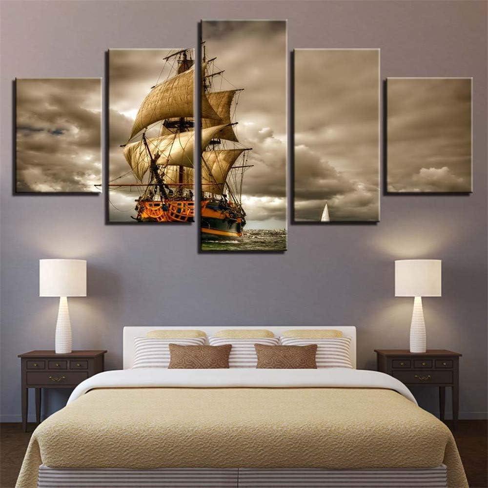 Comeyang Imagen Decorativa de Lienzo Pintado Impresa Colgando en ...