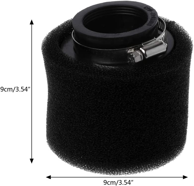 FlowerPEI Straight Neck 35 38 40 42 45 48mm Double Sponge Air Filter Cleaner for Motorcycle Scooter ATV Pocket Bike Pit Bike Vehicles Modifications