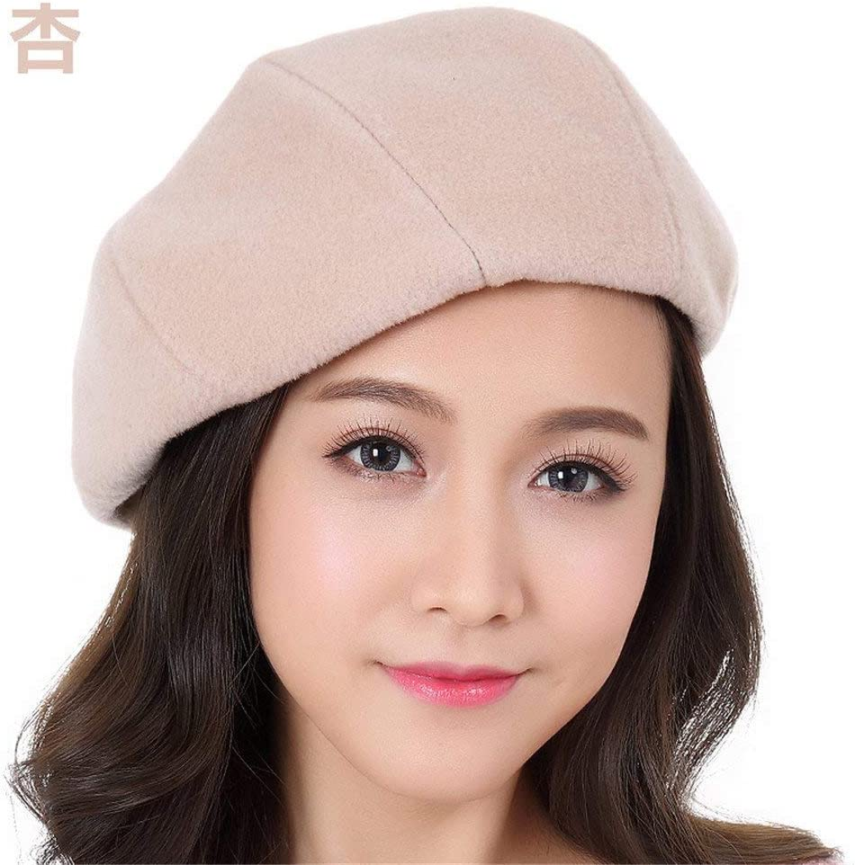 34-maizhuoyuanlin 最新のデザインのガールフレンドのボーイフレンドの休日の贈り物女性のベレー帽の女性のファッションの帽子の女性の秋の冬のレジャーのすべての試合 (Color : Apricot, サイズ : XL (59-61cm) elastic band) Apricot XL (59-61cm) elastic band