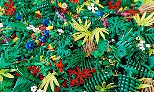 25 Random Lego Trees Leaves Plants Shrubbery and Greenery Pieces (Tree Bush Halloween Costume)