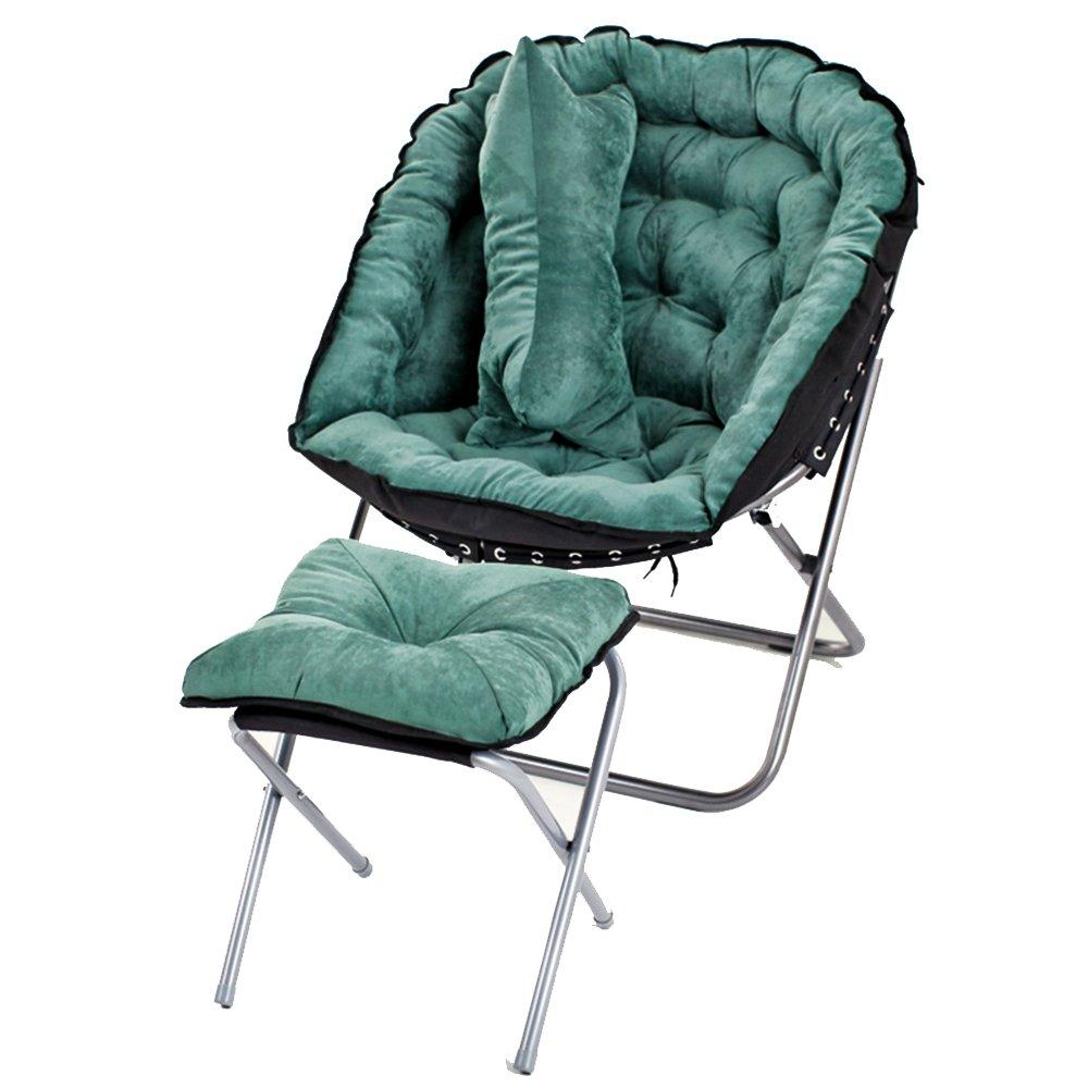 XXHDYR Kreativer Fauler Couch Chair Einfache Schlafzimmer Wohnzimmer Mini Casual Falten Balkon Recliner Klappstuhl (Farbe : 3)