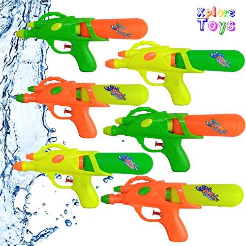 Water Guns Summer Pool Party Favors, Water Blasters-6 pack